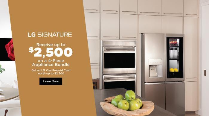 LG SIGNATURE Appliance Bundle July 2020