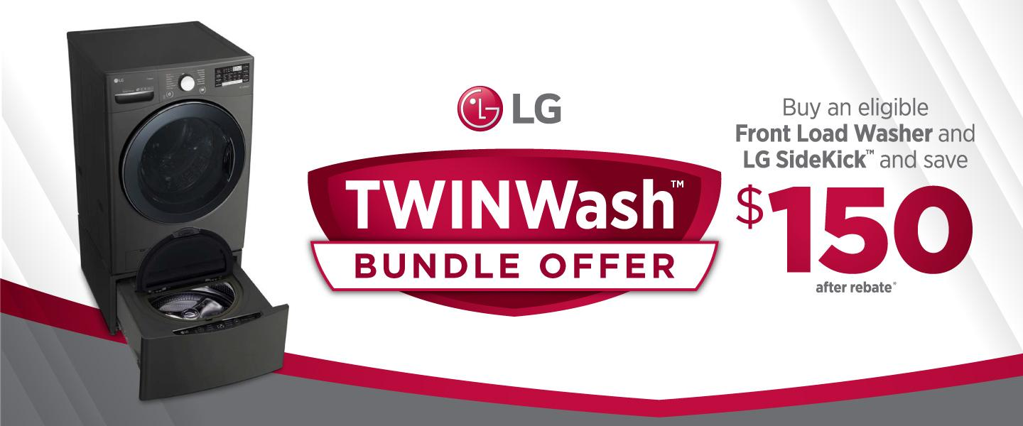 LG TwinWash Bundle Offer April 2020