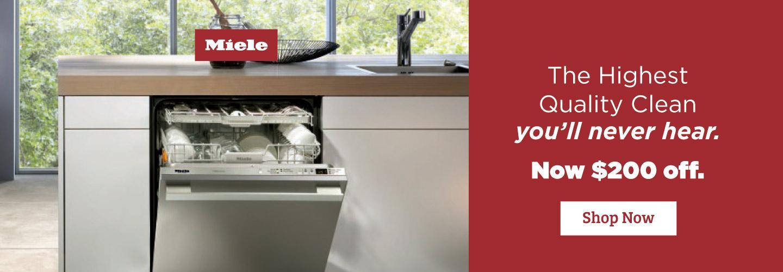Miele  $200 Dishwasher Savings  Aug 2020