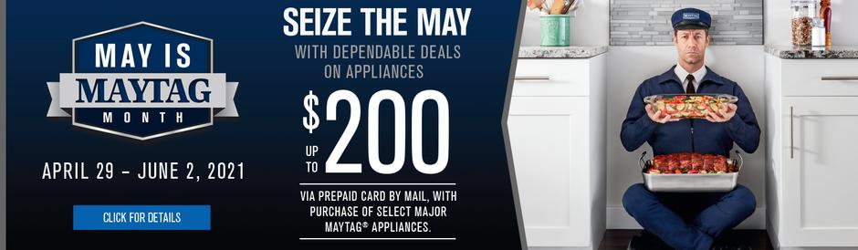 May is Maytag Month 2021