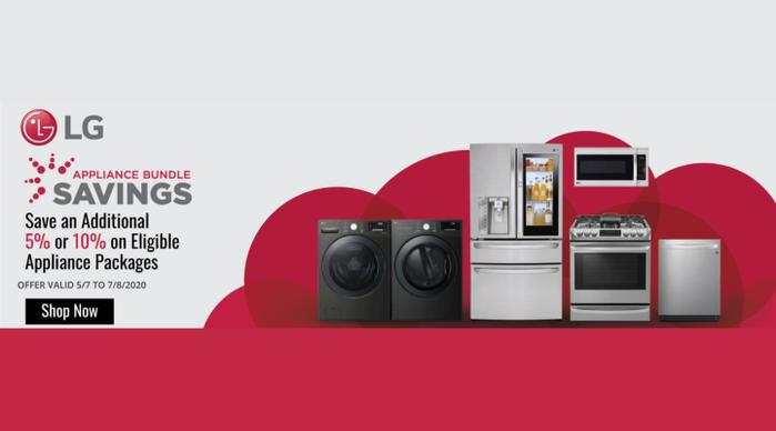 LG Appliance Bundle Savings May 2020