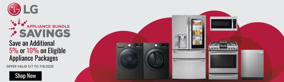 LG Appliance Bundle Savings May 2020