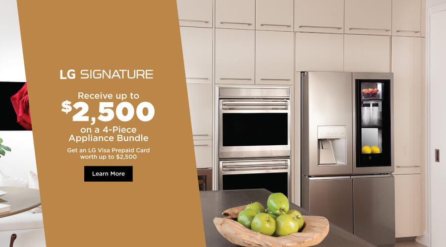 LG SIGNATURE Appliance Bundle Jan-Mar 2021