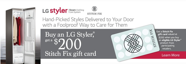 LG Styler $200 Stitch Fix Feb-March 2021